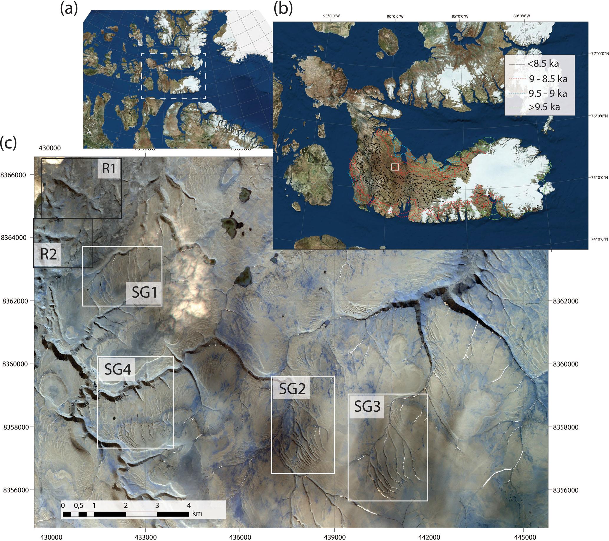 Subglacial Drainage Patterns Of Devon Island, Canada