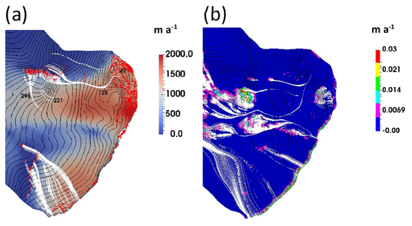 TC - Simulating the roles of crevasse routing of surface water and