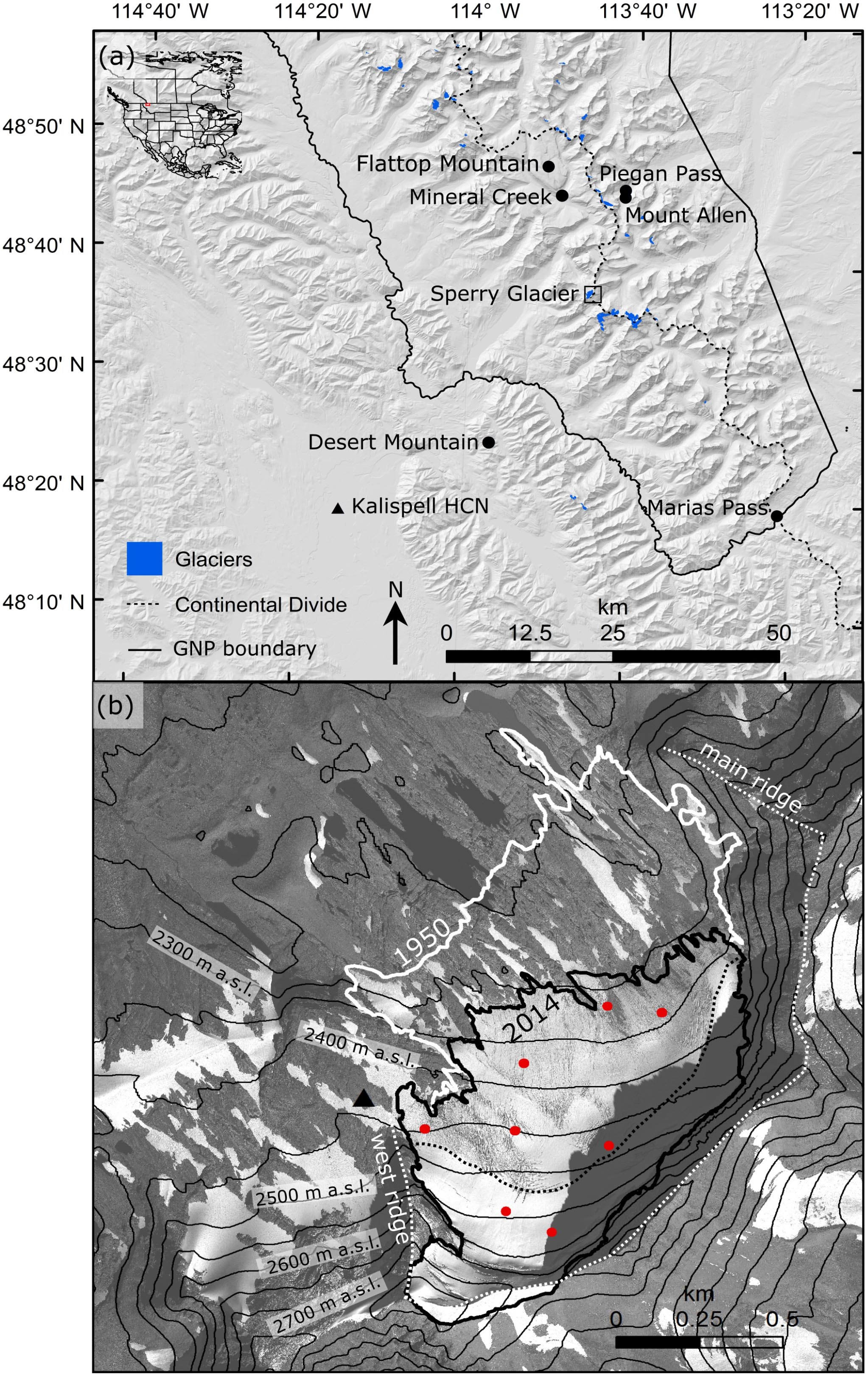 TC - Local topography increasingly influences the mass balance of a