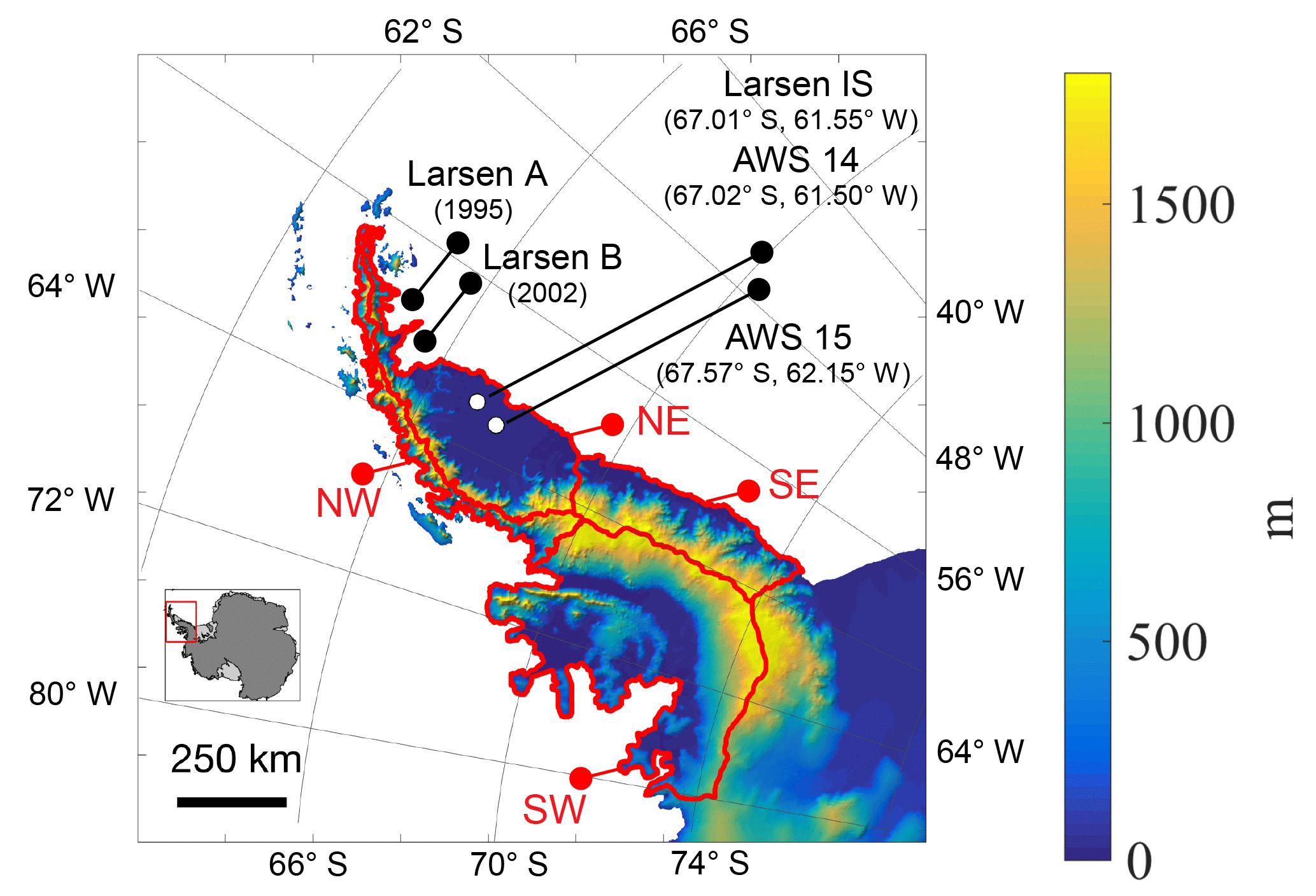 Tc Melting Over The Northeast Antarctic Peninsula 1999
