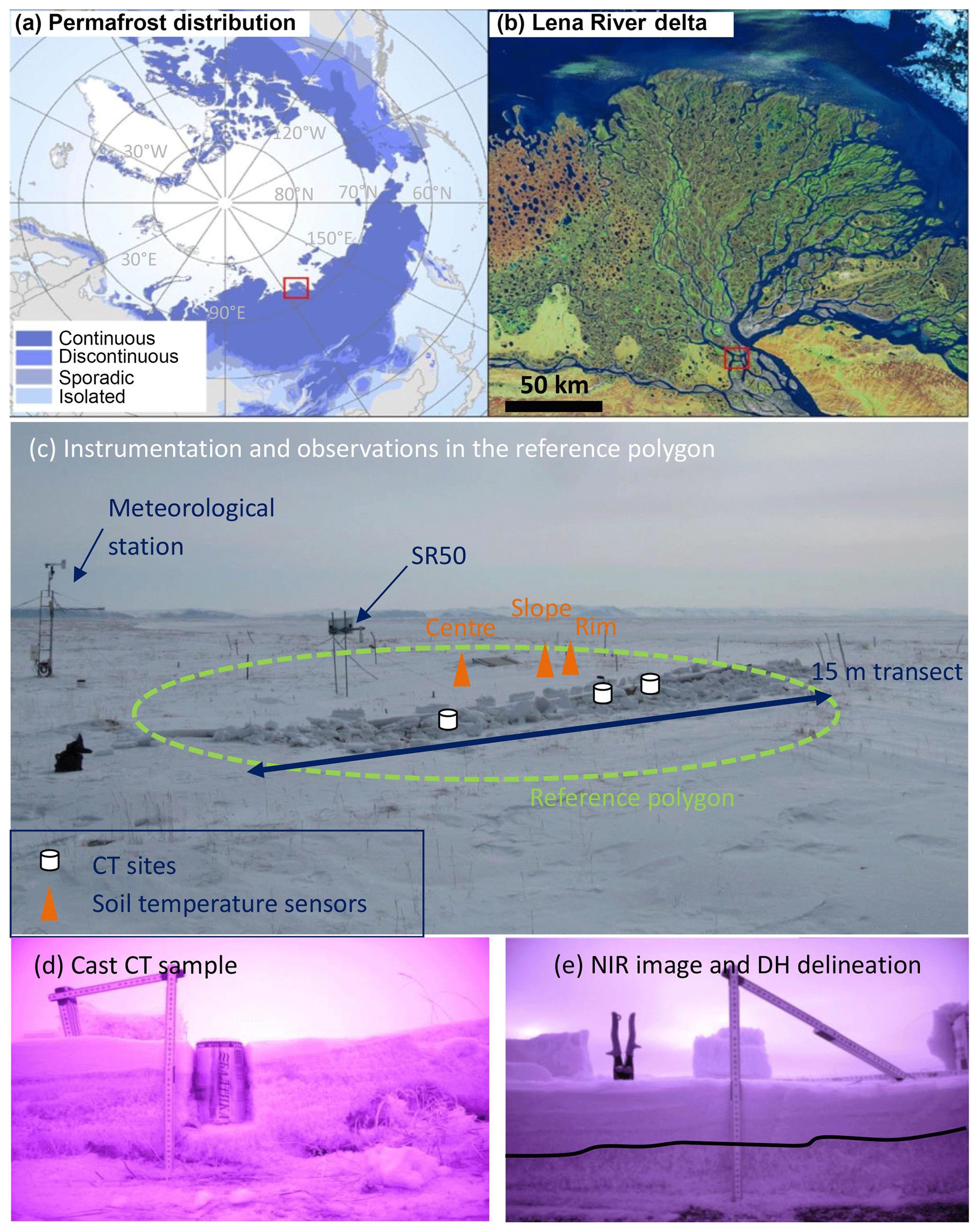 pas cher pour réduction super service nuances de TC - Observation and modelling of snow at a polygonal tundra ...