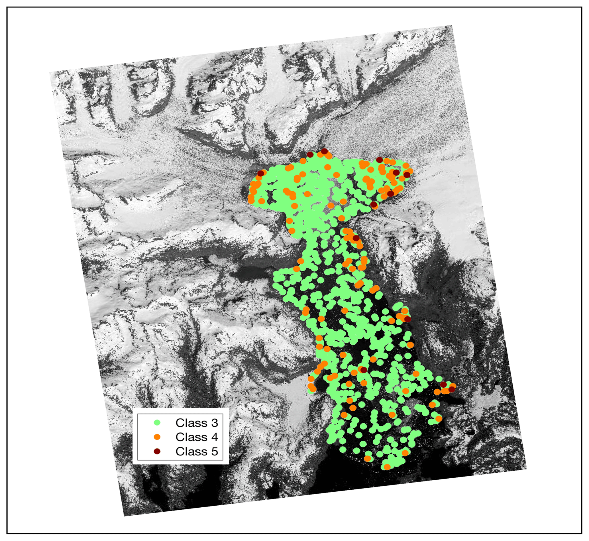TC - Spatiotemporal distributions of icebergs in a temperate fjord