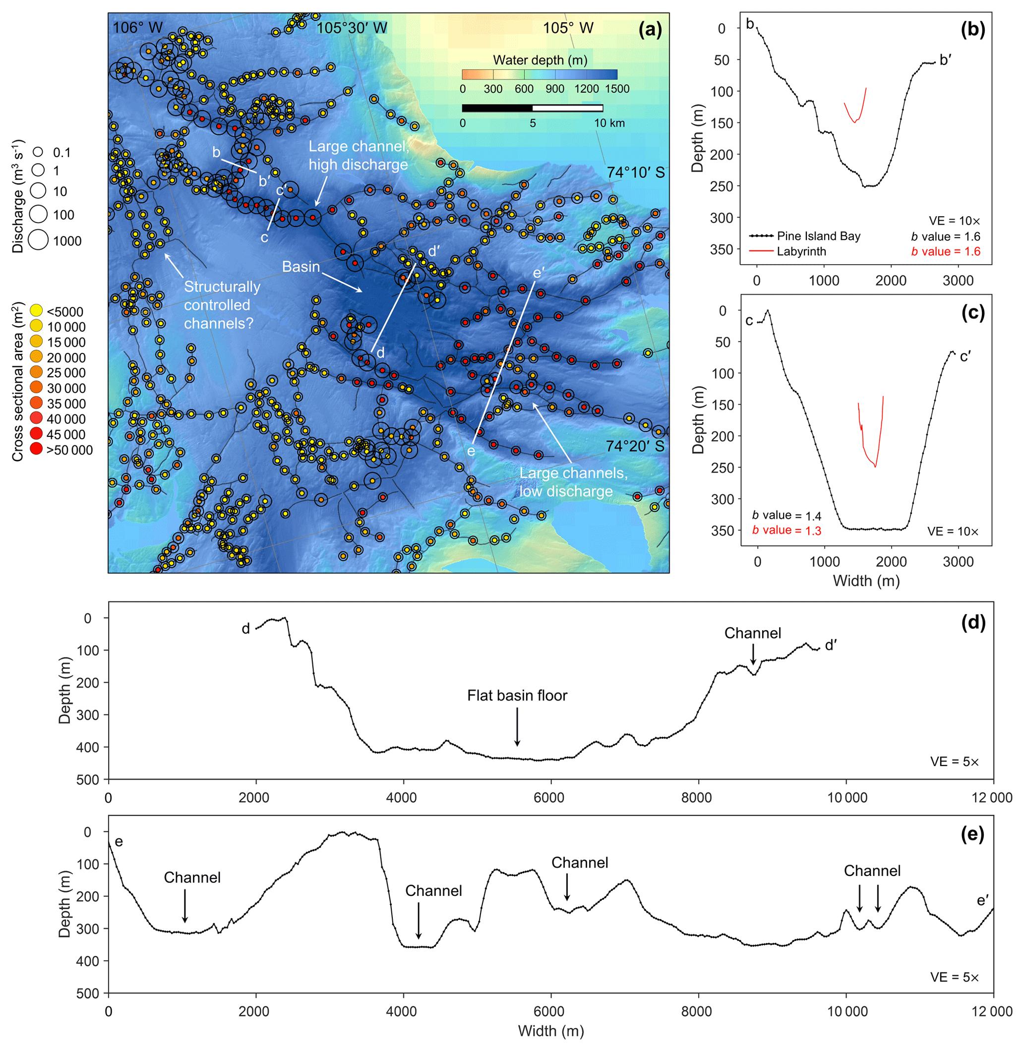 TC - Past water flow beneath Pine Island and Thwaites