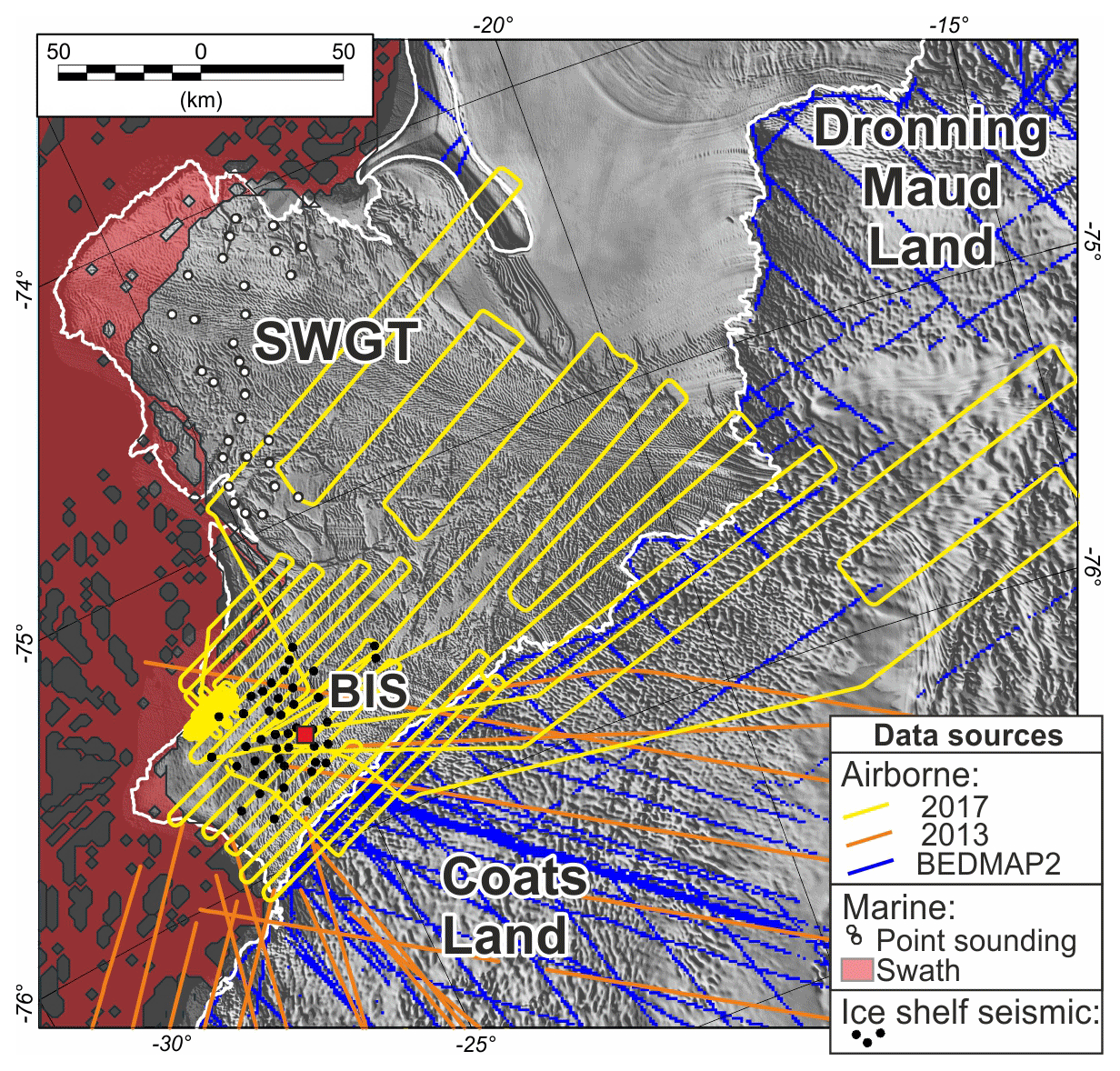 TC - Past and future dynamics of the Brunt Ice Shelf from seabed