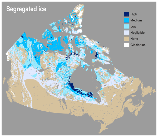 Ice Map Canada TC   New ground ice maps for Canada using a paleogeographic