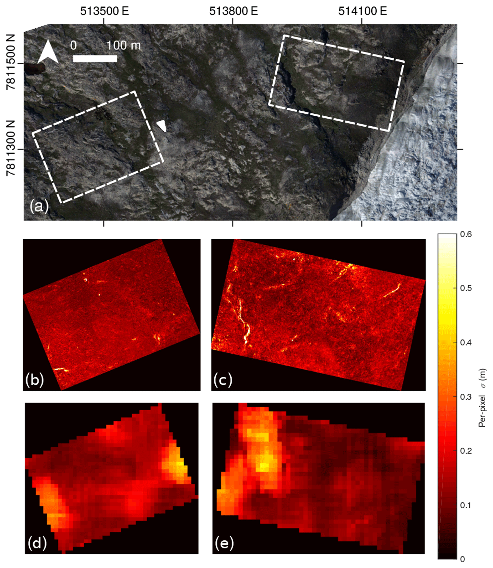 TC - High-accuracy UAV photogrammetry of ice sheet dynamics with no